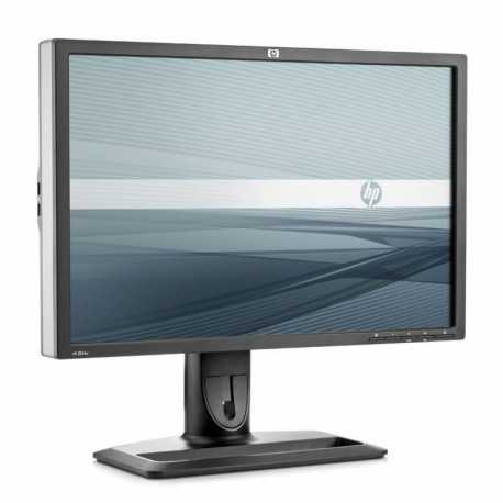 "LCD HP 24"" ZR24W; black/silver, B+"